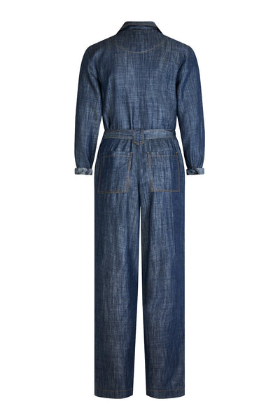 SHIVA Tencel Jumpsuit Dark Indigo