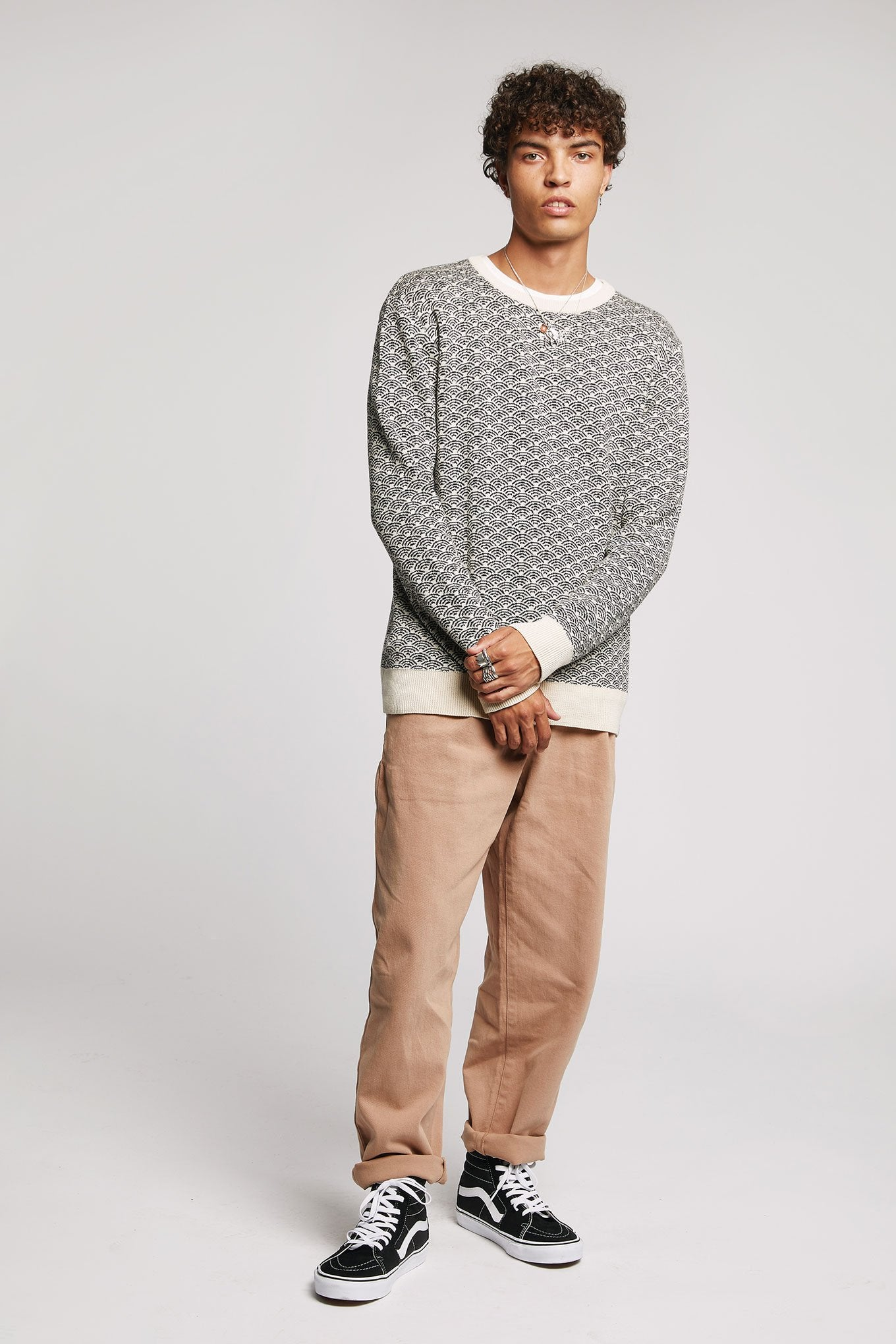 HAKKU - GOTS Organic Cotton Jumper Off White