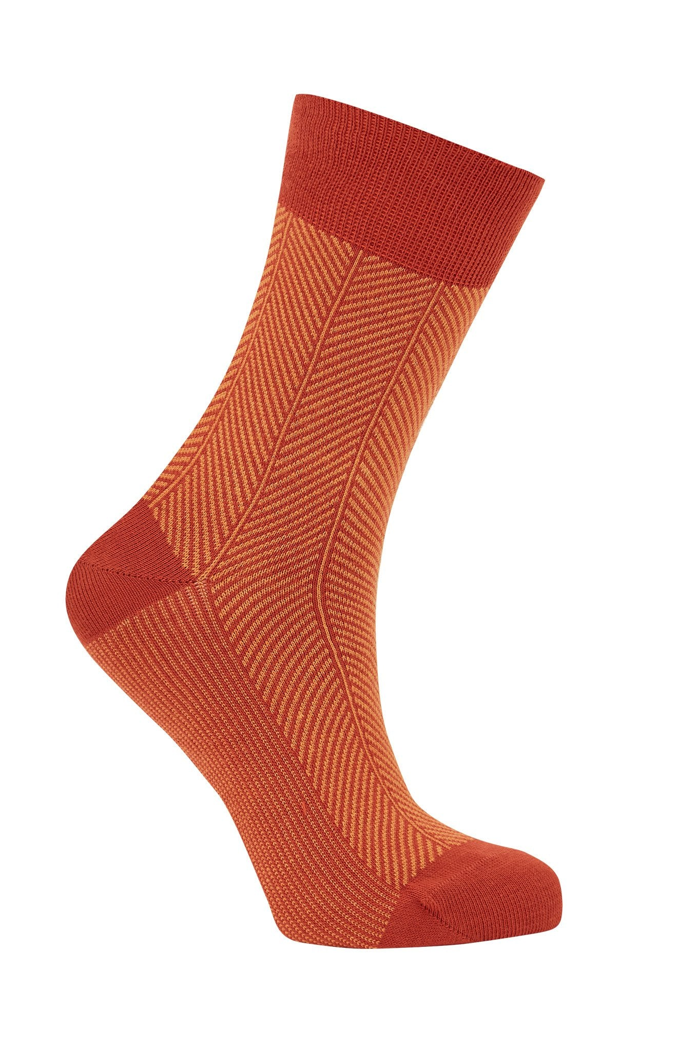 HERRINGBONE Lava - GOTS Organic Cotton Socks