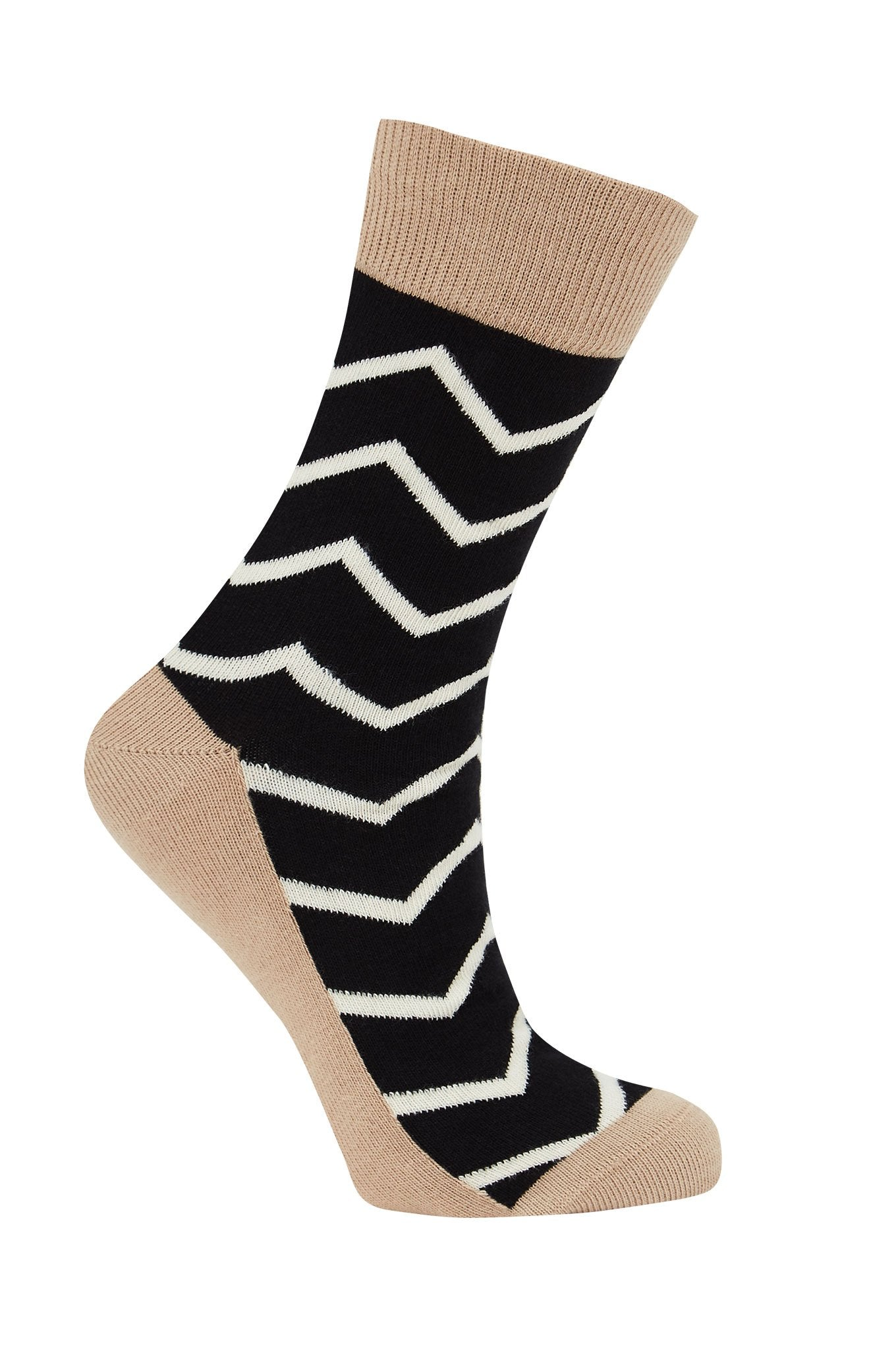 SAPUT Black - GOTS Organic Cotton Socks