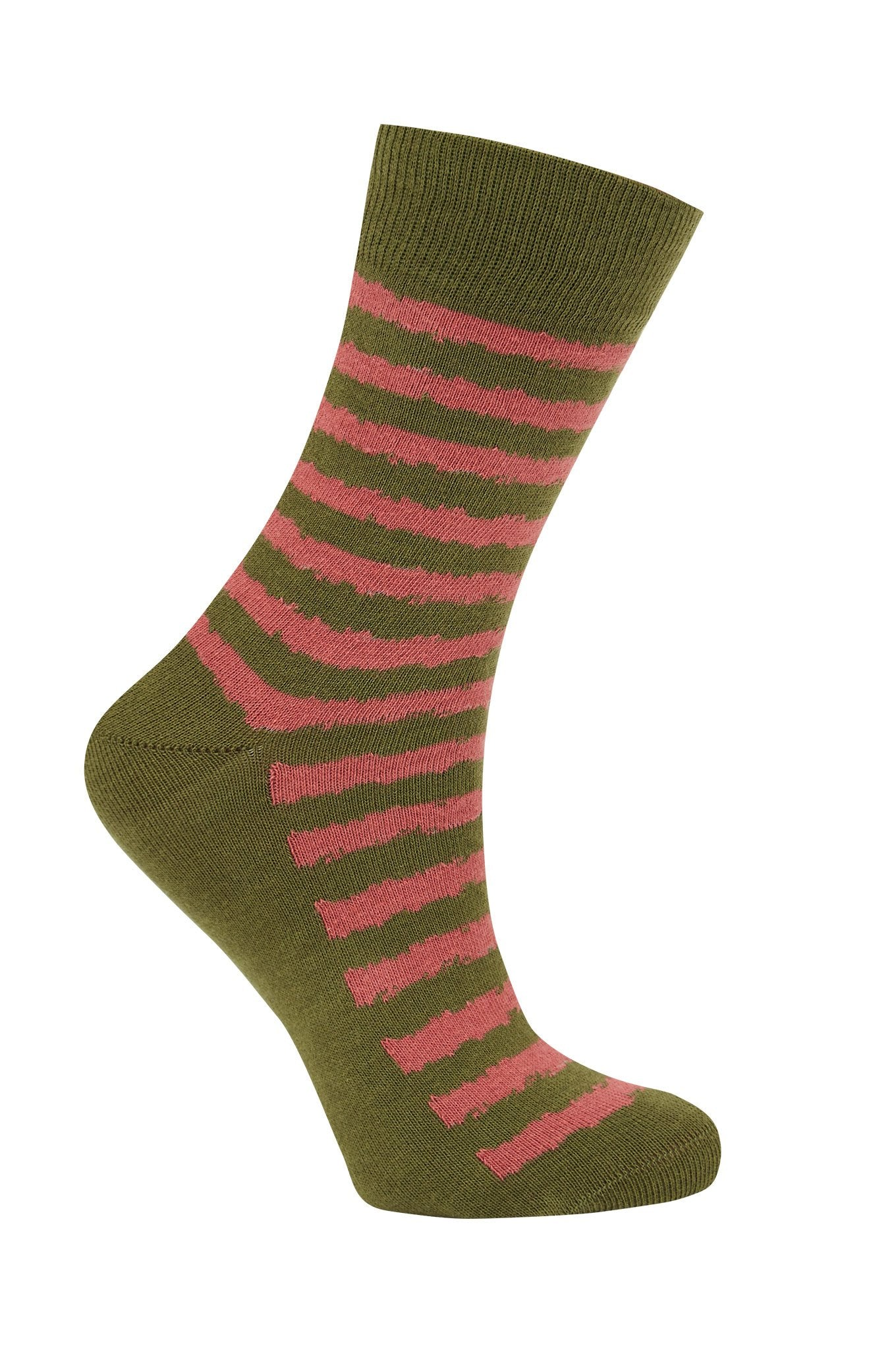 BROKEN BRETTON Olive - GOTS Organic Cotton Socks