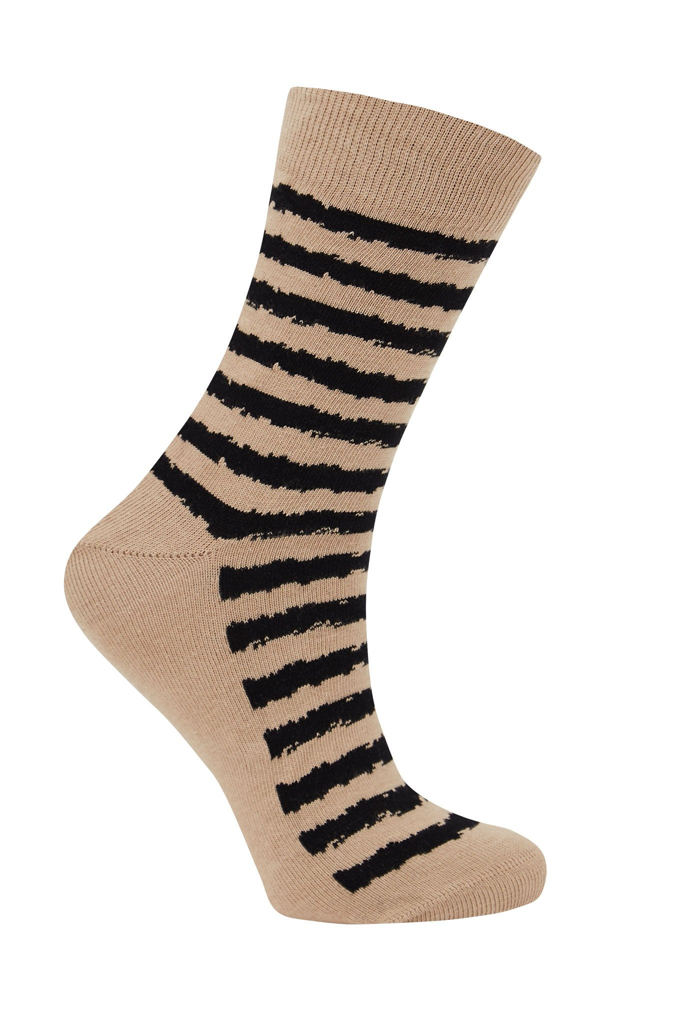 BROKEN BRETTON Sand - GOTS Organic Cotton Socks