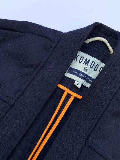 KUNG FU PET WRAP COAT Indigo