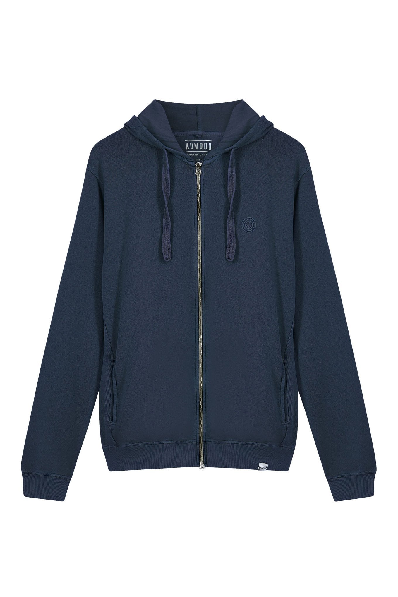 APOLLO Mens - GOTS Organic Cotton Zip Hoodie Navy