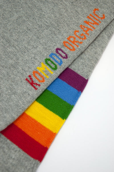 PRIDE Grey Organic Cotton Socks - Komodo Fashion