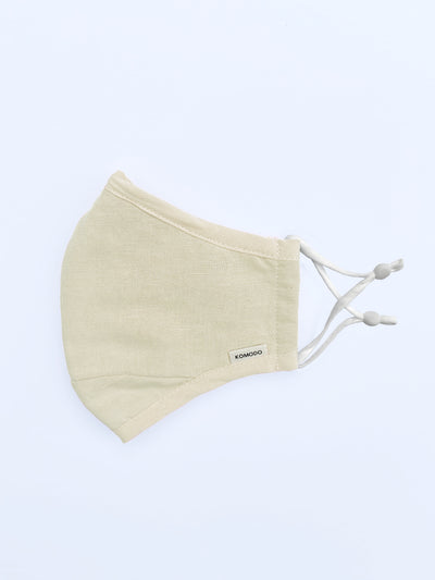 REUSABLE FABRIC FACE MASK - SAND