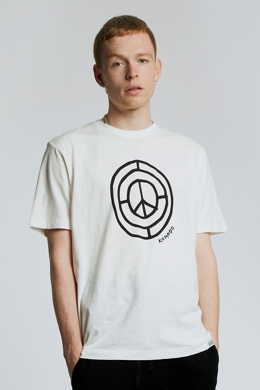 SIGN OF TIMES - GOTS Organic Cotton Tee Off White