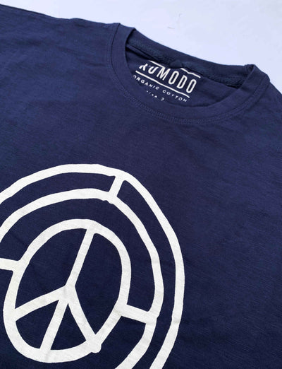SIGN OF TIMES - GOTS Organic Cotton Tee Indigo