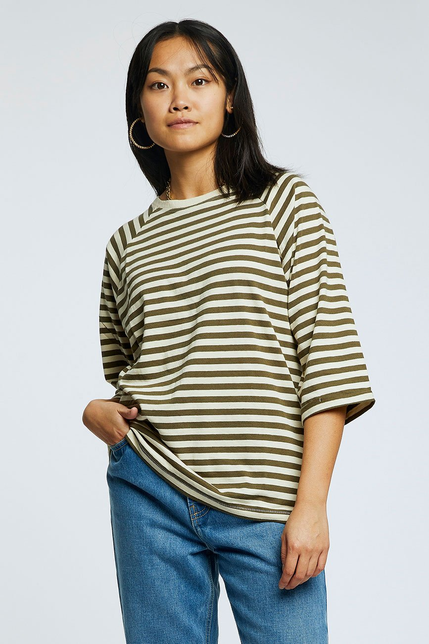 SUNSET Organic Cotton & Hemp Top Olive