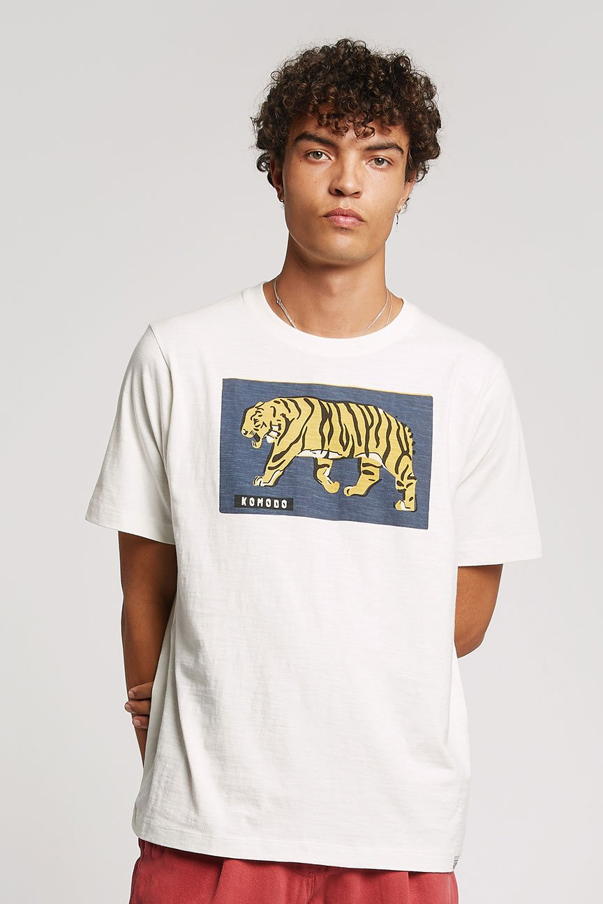 TIGRESS - GOTS Organic Cotton Tee Off White