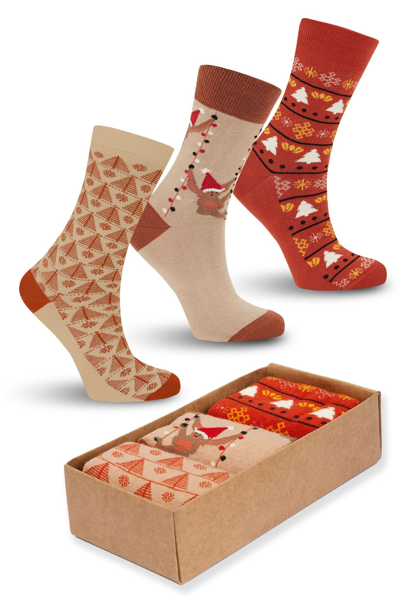 XMAS FUN Box Assorted - GOTS Organic Cotton Socks Set
