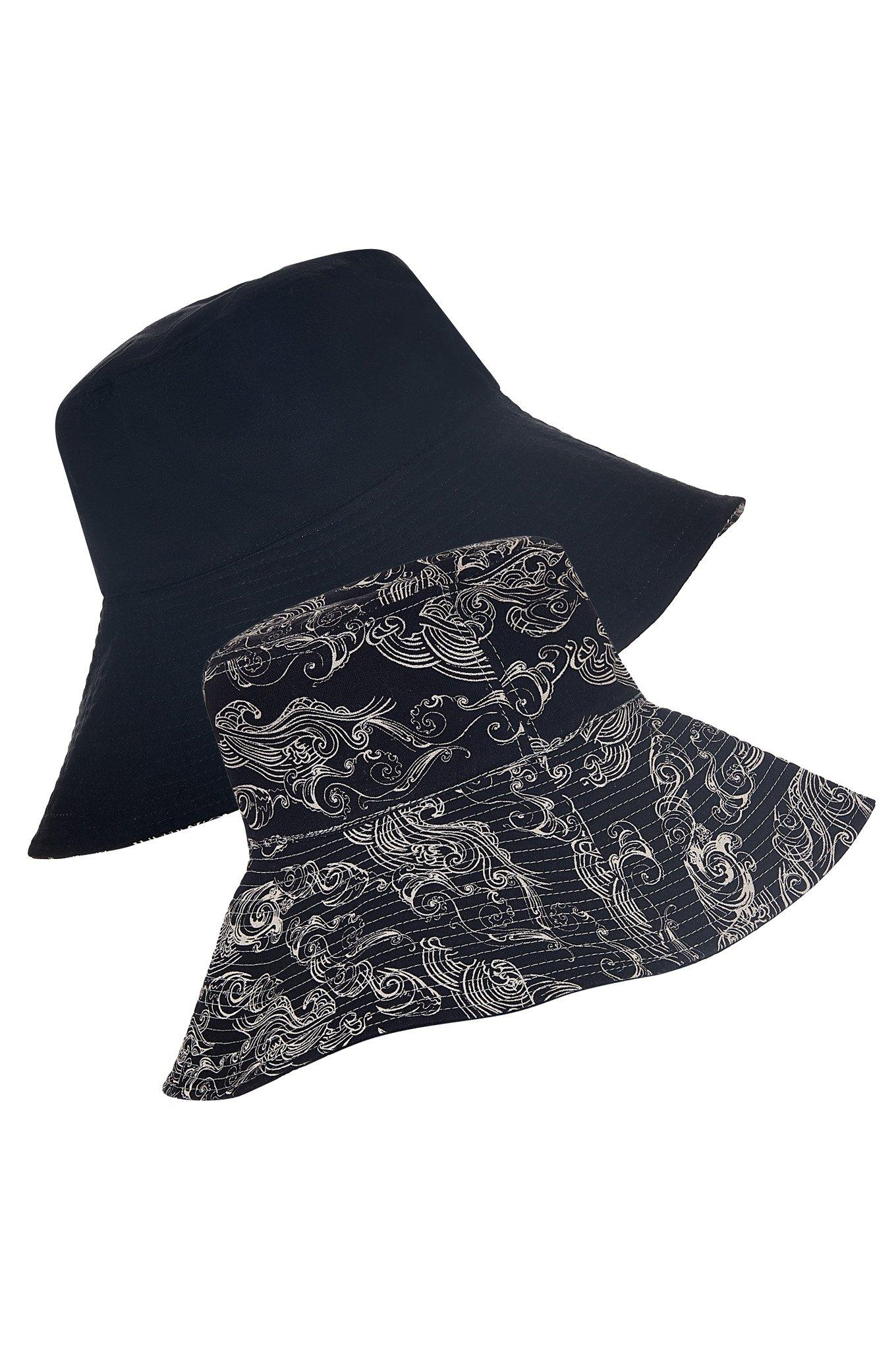 COCO REVERSIBLE Hat Uluwatu Black - Komodo Fashion