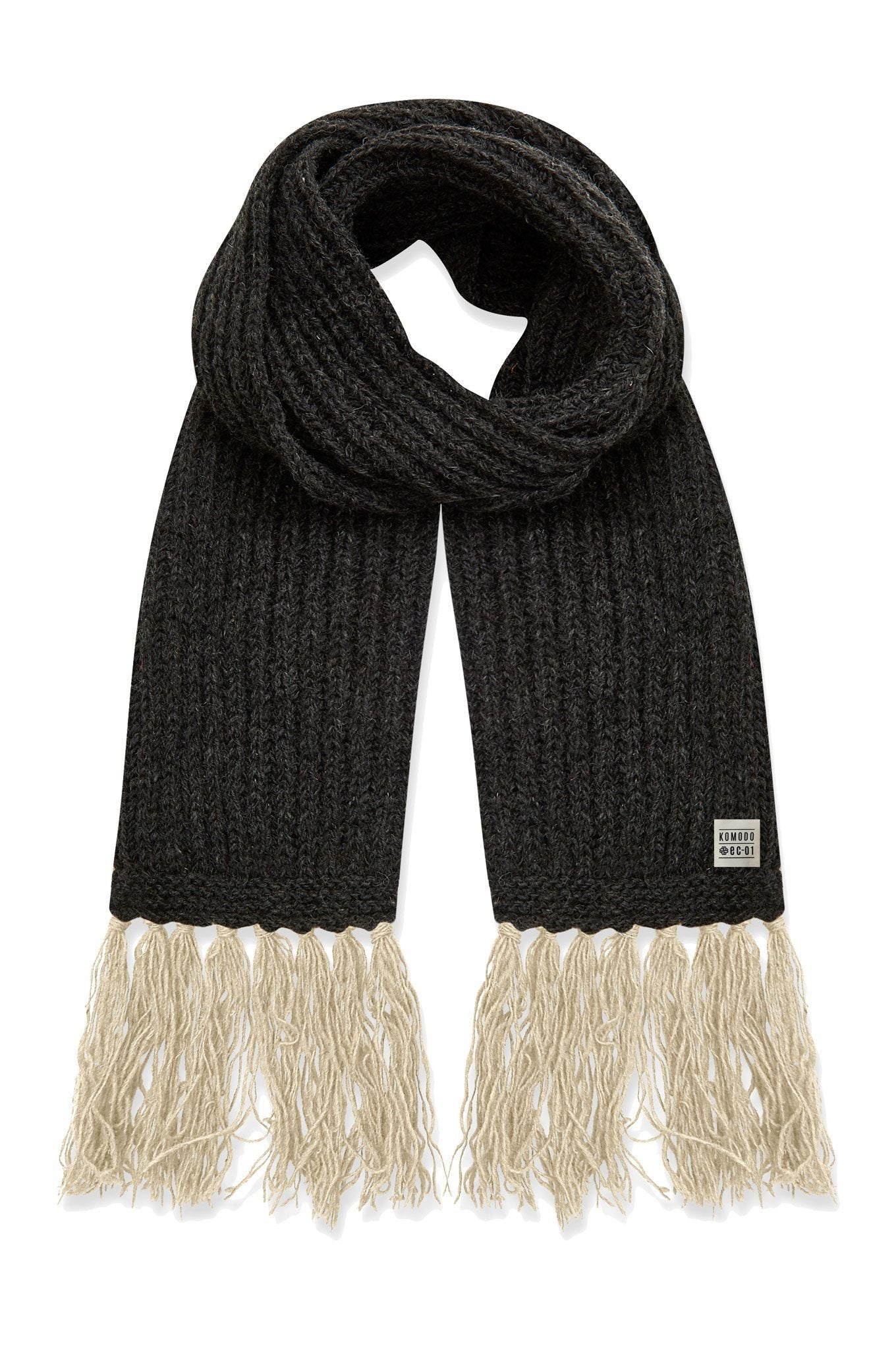 LIZZIE Recycled Wool Scarf Coal - Komodo Fashion