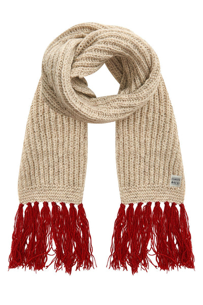 LIZZIE Recycled Wool Scarf Oatmeal - Komodo Fashion