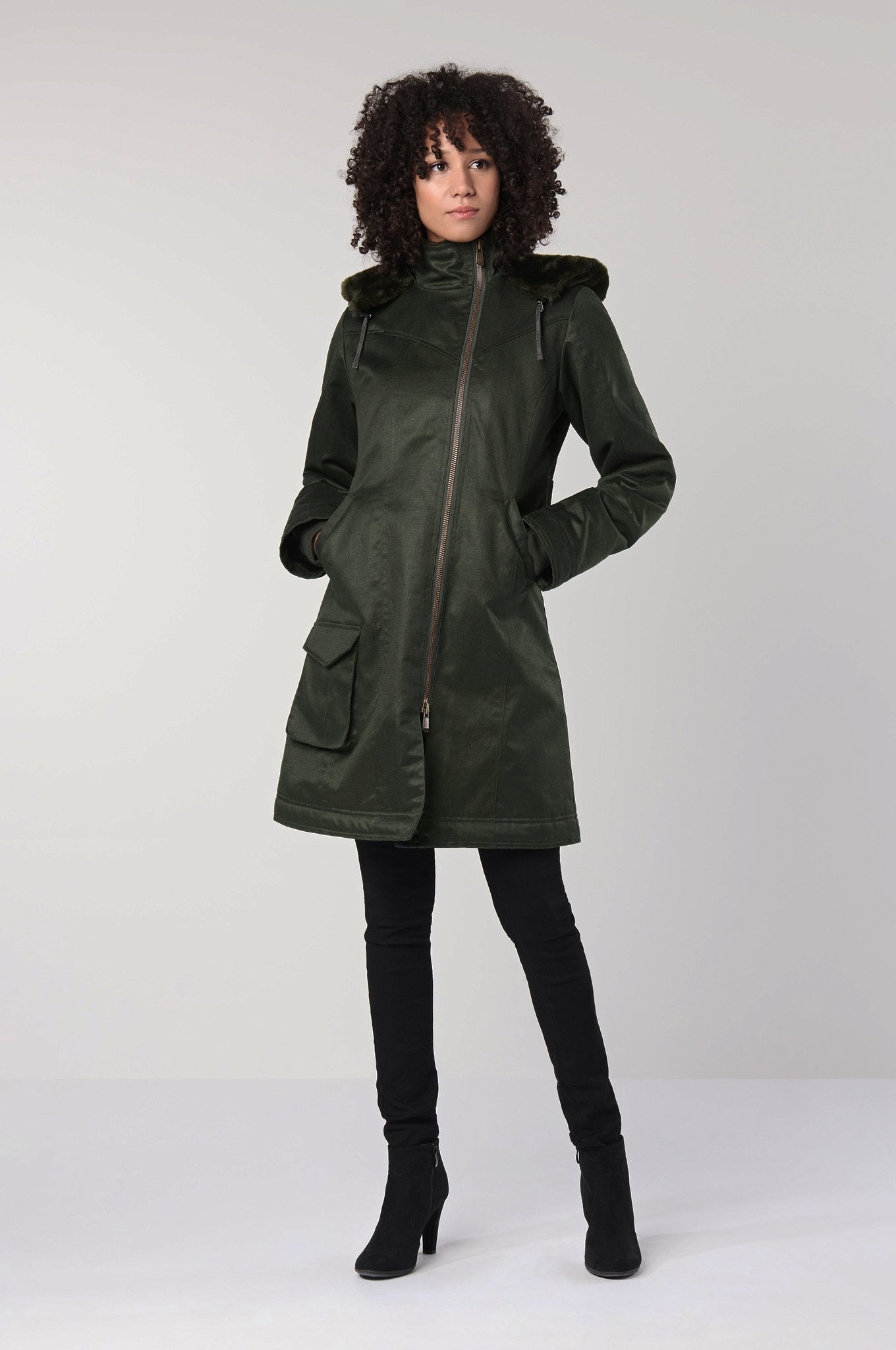 HEMP COAT Green - Komodo Fashion