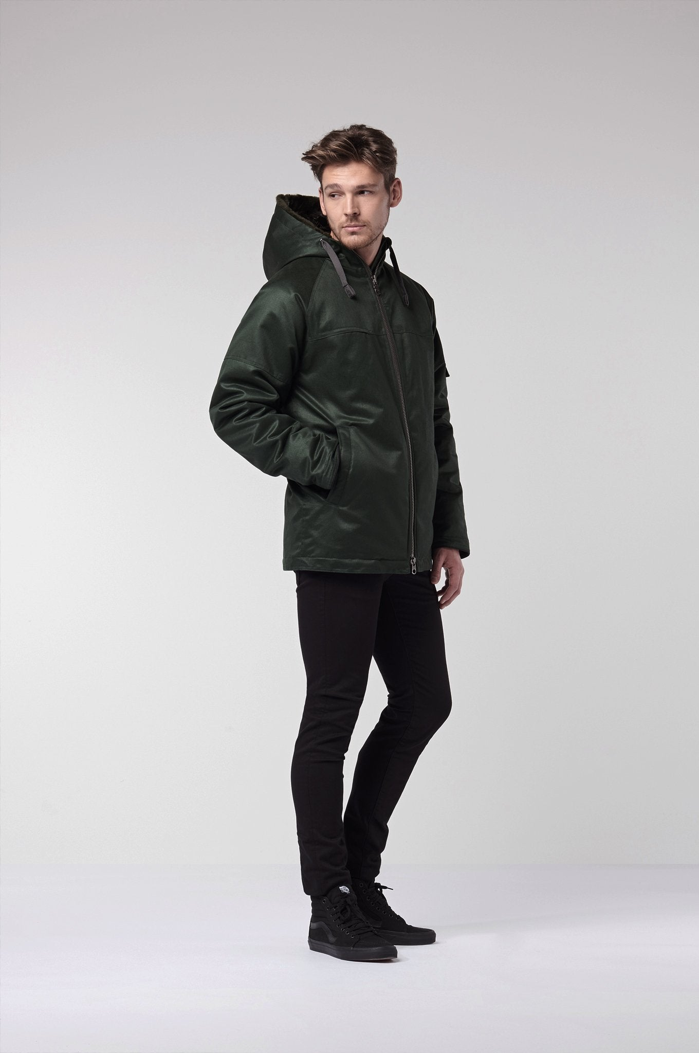HEMP Vegan Jacket Green - Komodo Fashion