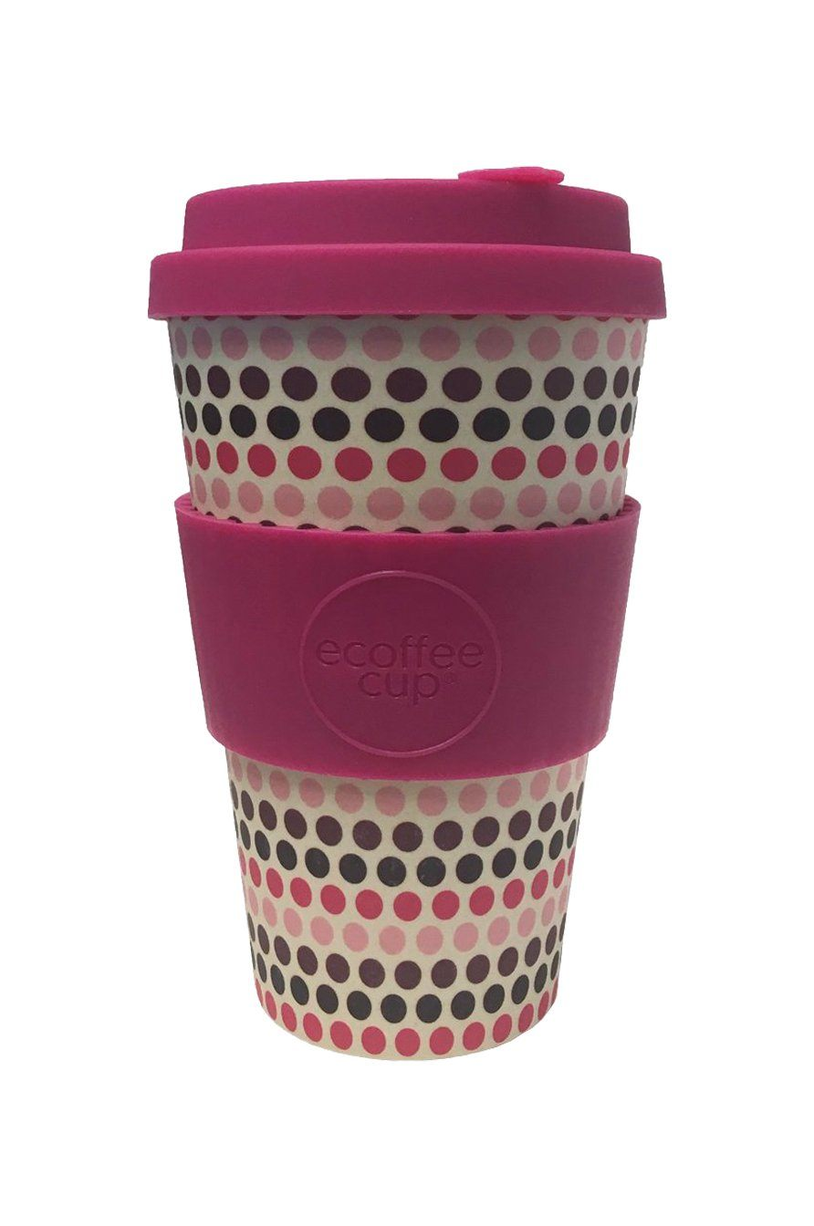 Pink Polka XL Reusable Bamboo Cup - Komodo Fashion