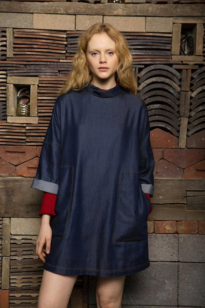 MANDARIN Tencel Dress - Komodo Fashion