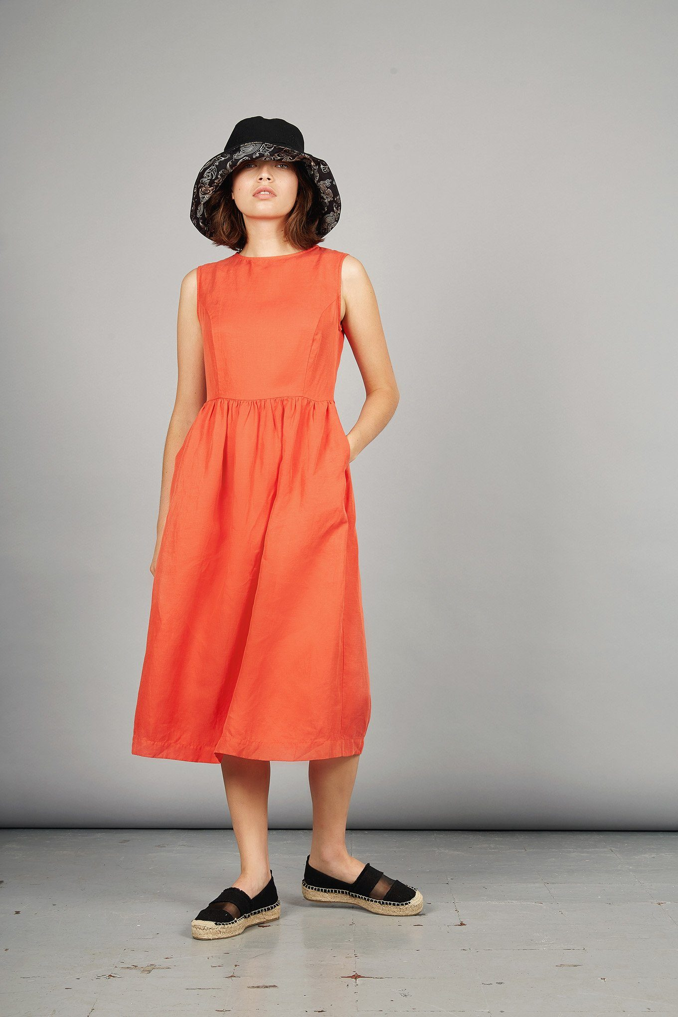 PRIMROSE Tencel Linen Dress Spice - Komodo Fashion
