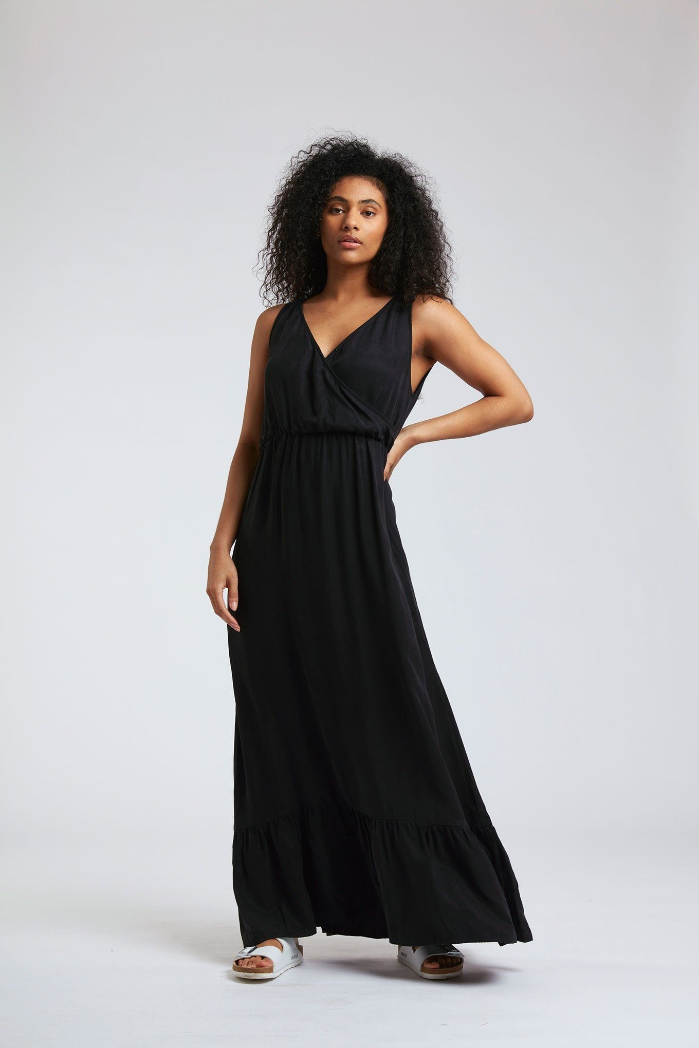 Dress - WHIRLYGIG Cupro Dress Black Coffee