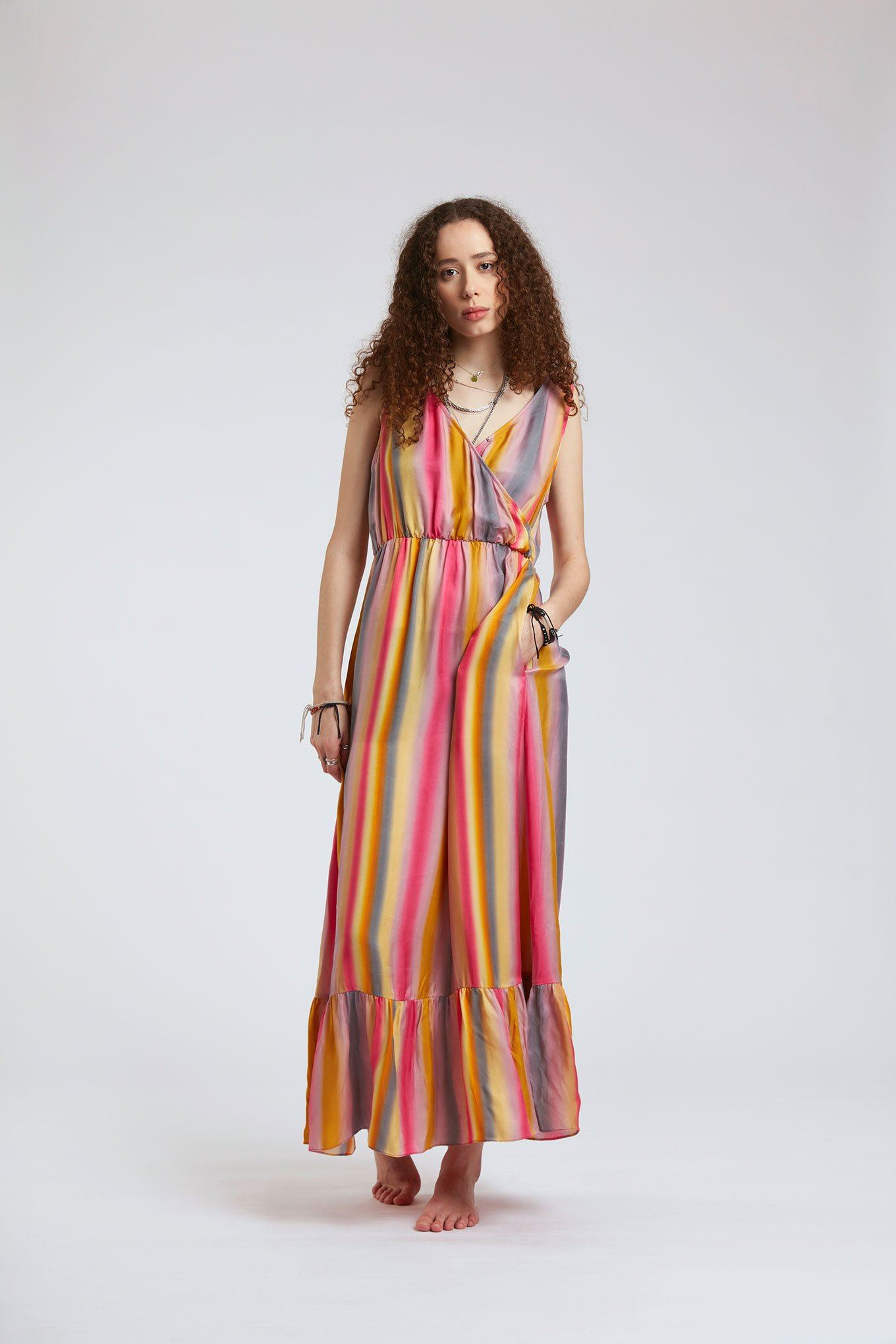 Dress - WHIRLYGIG Cupro Dress Glasto-Nudes