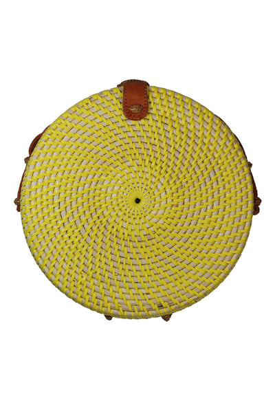 Yellow Round Straw Bag | Handmade in Bali | KOMODO