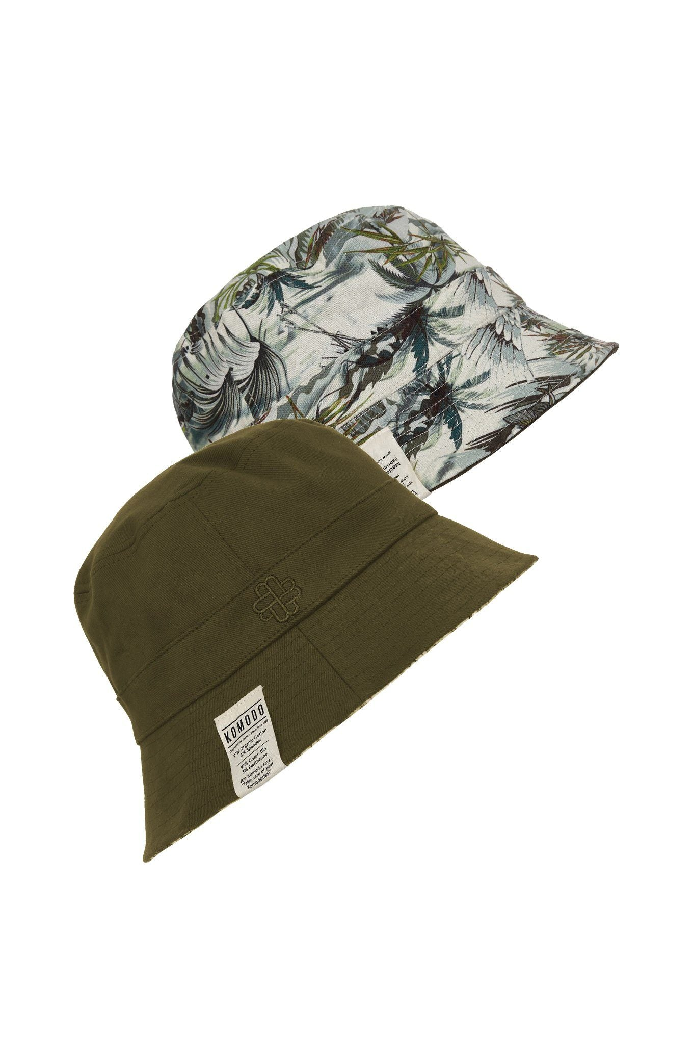 Hats - BUCKY REVERSIBLE UNISEX Hat Bali-Green