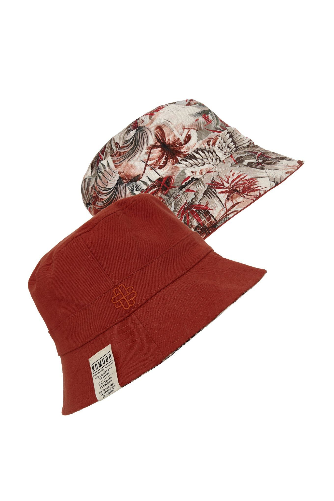 Hats - BUCKY REVERSIBLE UNISEX Hat Bali-Red