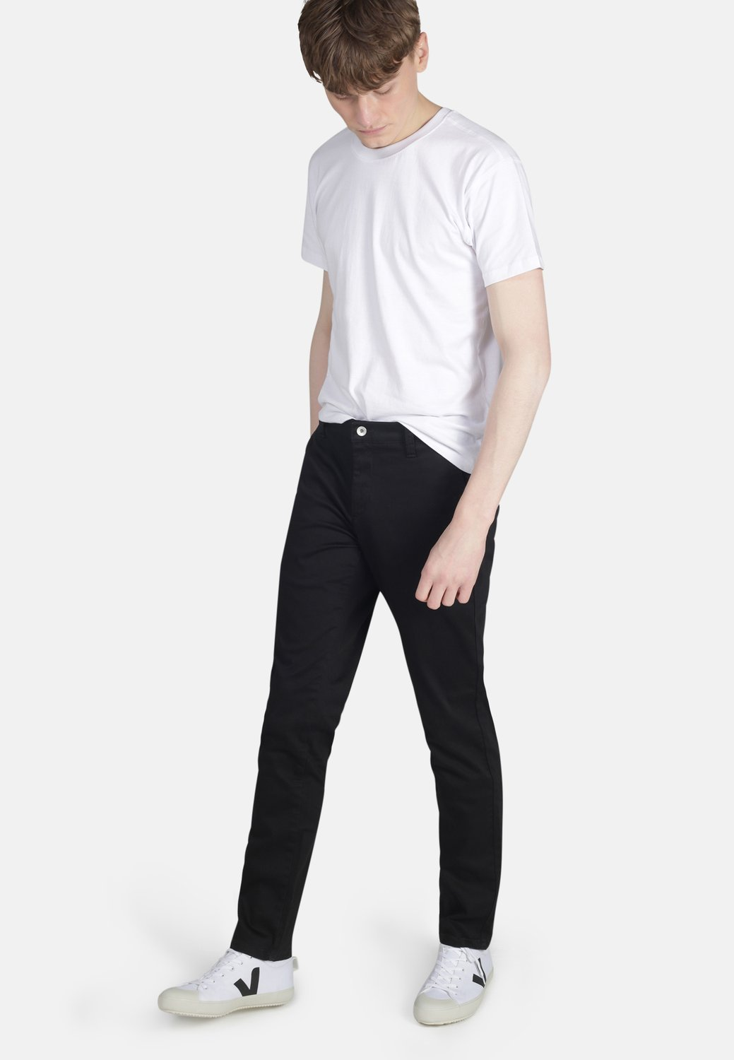 Black Organic Cotton Chino - Komodo Fashion