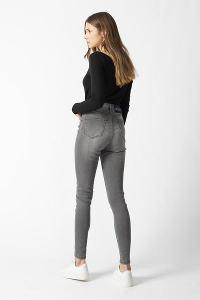 CARRIE light grey organic cotton Jeans by UCM - Komodo Fashion