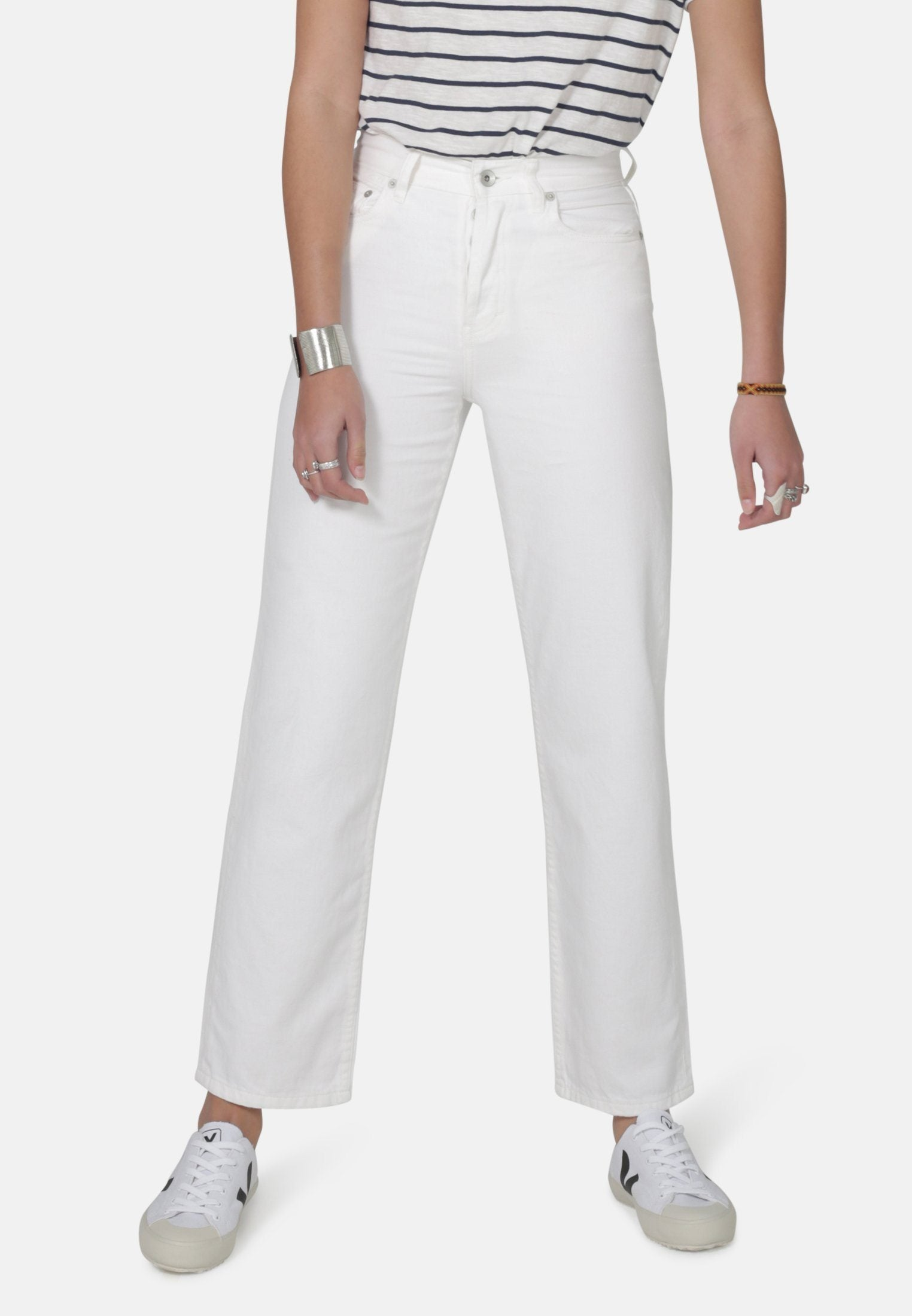 White Libby Organic Jeans | Organic Cotton | by MONKEE Genes