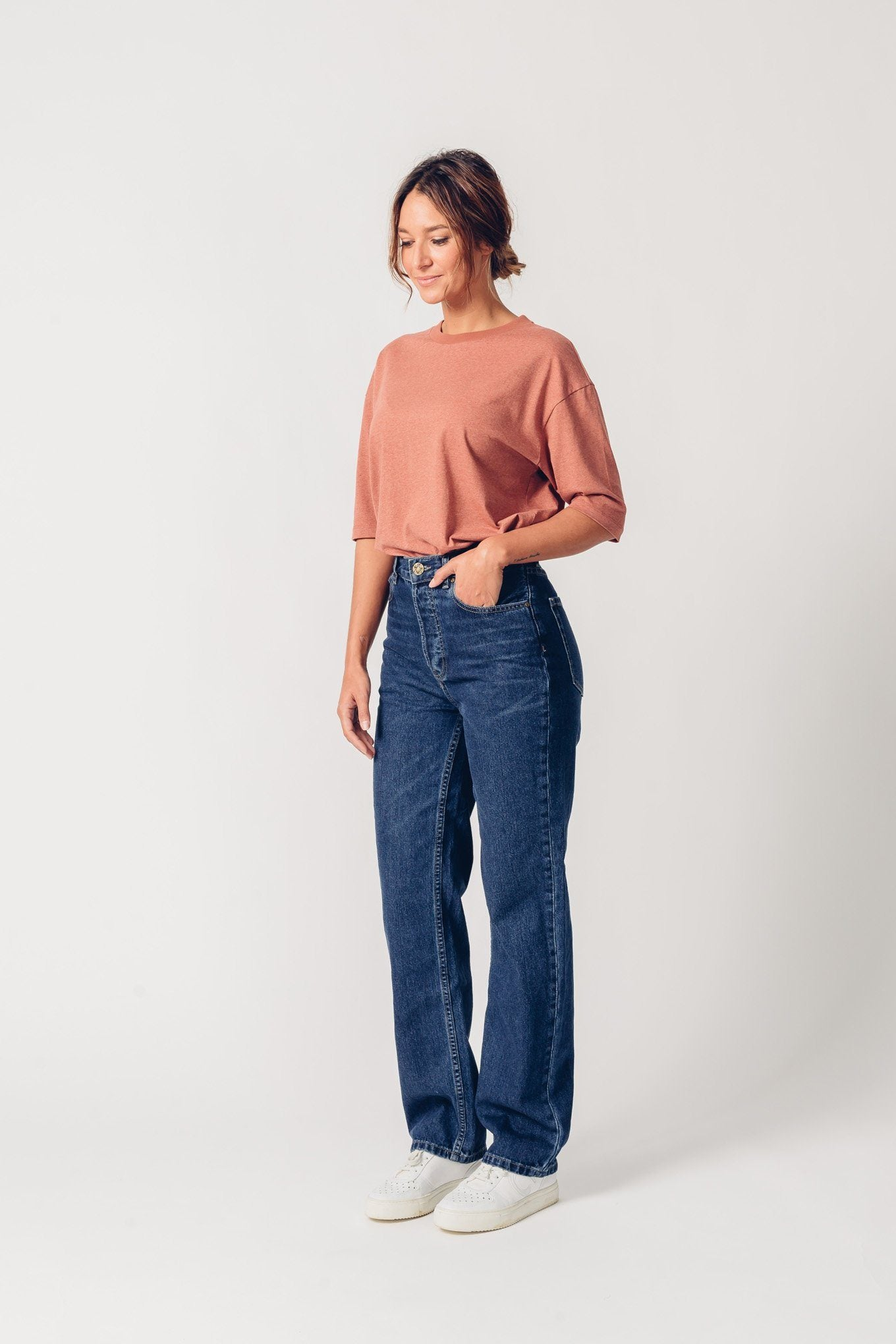 MAYA dark denim organic cotton Jeans by UCM - Komodo Fashion