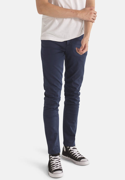 Jeans - Navy Organic Cotton Chino