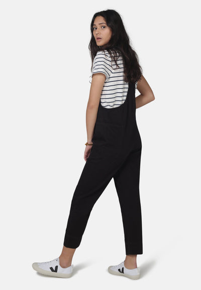 Sustainable Black Denim Overalls by MONKEE Genes | Organic Cotton