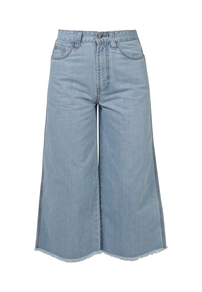 Light Blue Denim Crop Flare Jeans | 100% Organic Cotton | by MONKEE Genes