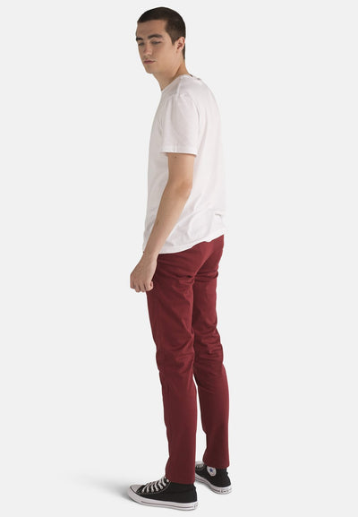 Wine Organic Cotton Chino - Komodo Fashion