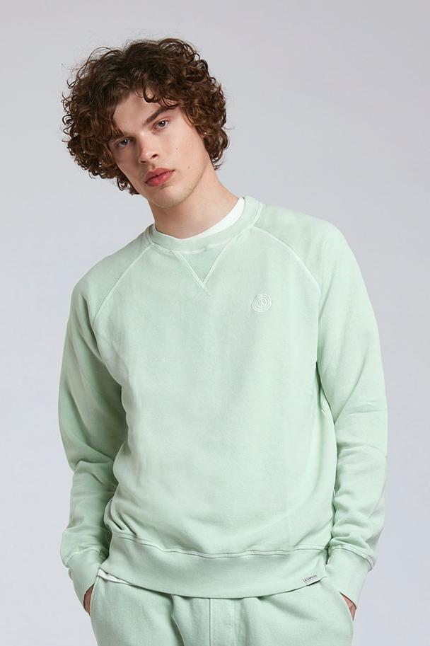 Jumper - ANTON Mens - GOTS Organic Cotton Crew Neck Jade