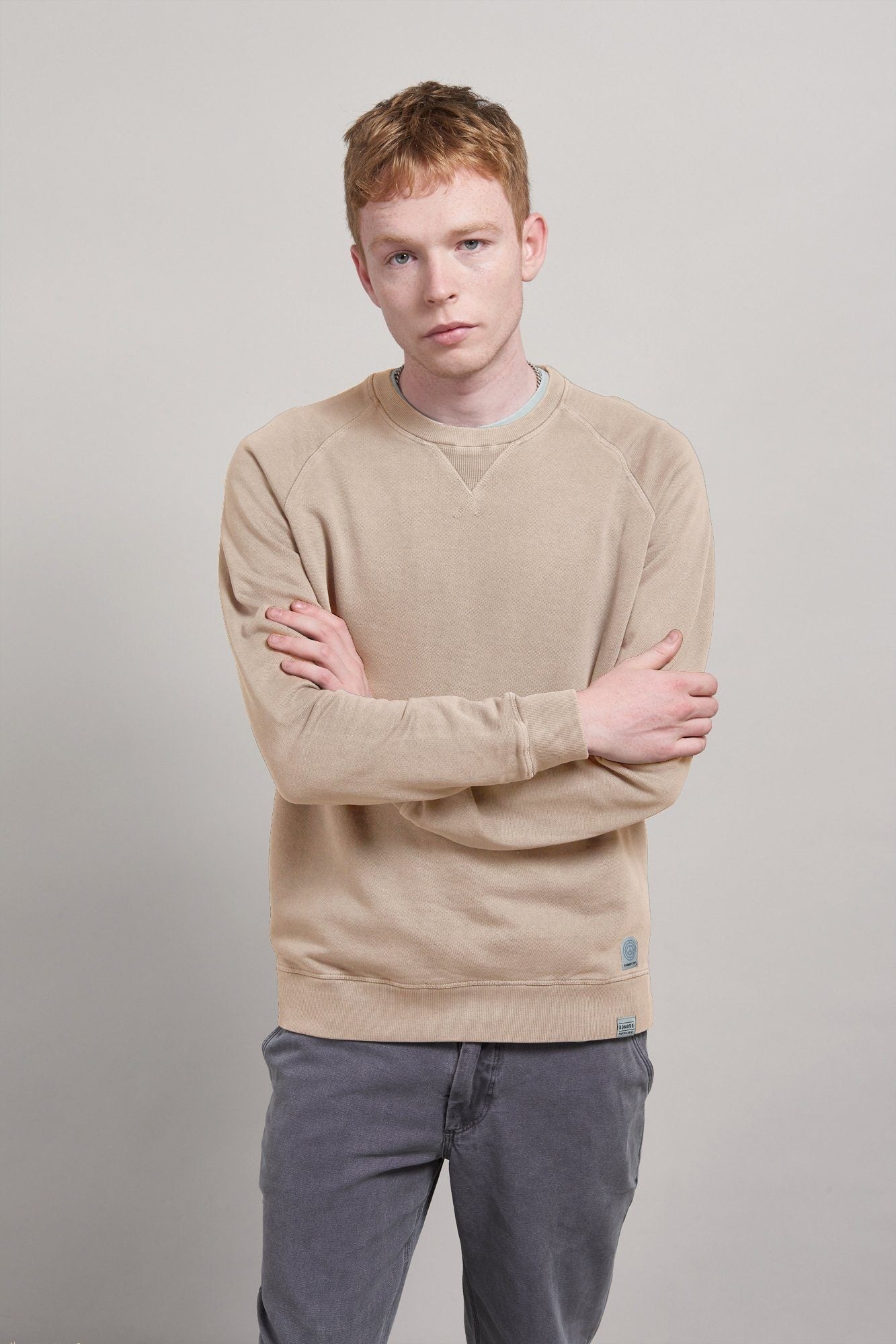 Jumper - ANTON Organic Cotton Raglan Sweat Oatmeal