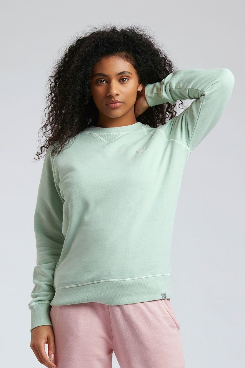 Jumper - ANTON Womens - GOTS Organic Cotton Crew Neck Jade