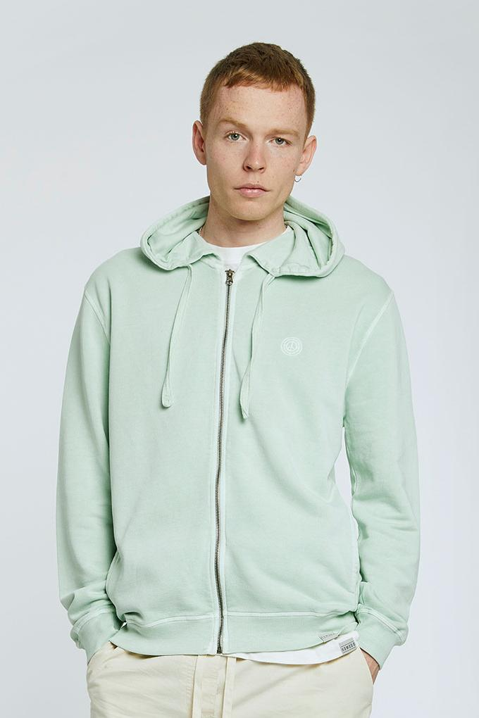 Jumper - APOLLO Mens - GOTS Organic Cotton Zip Through Jade