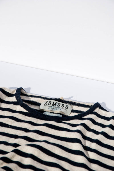 CHARLIE Organic Cotton Jumper Ink Stripe - Komodo Fashion
