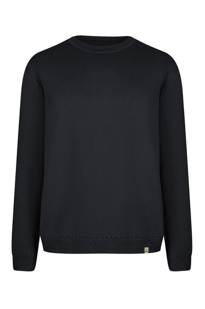 EDMUND Organic Cotton Jumper Coal - Komodo Fashion