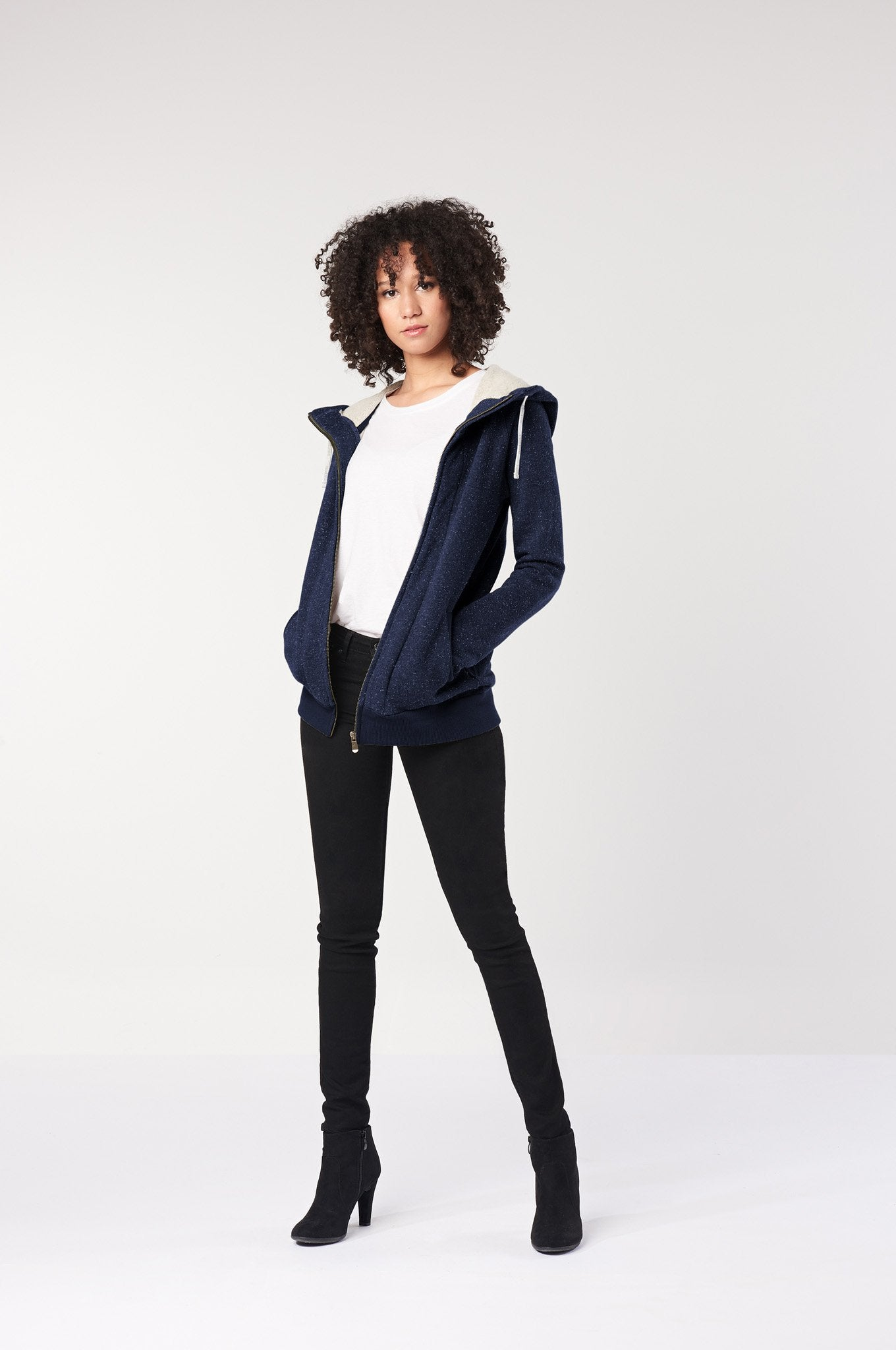 HEMP Hooded Vegan Jacket Navy - Komodo Fashion