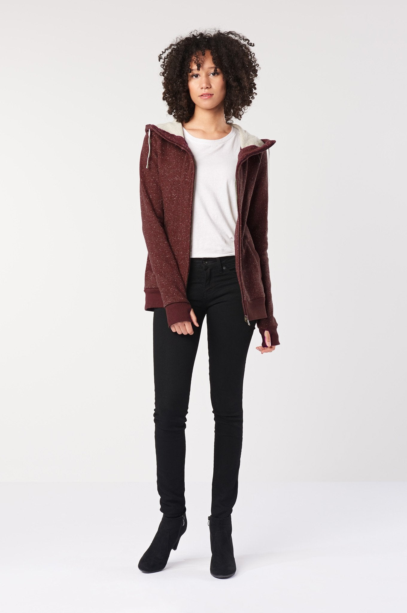 HEMP Hooded Vegan Jacket Red - Komodo Fashion