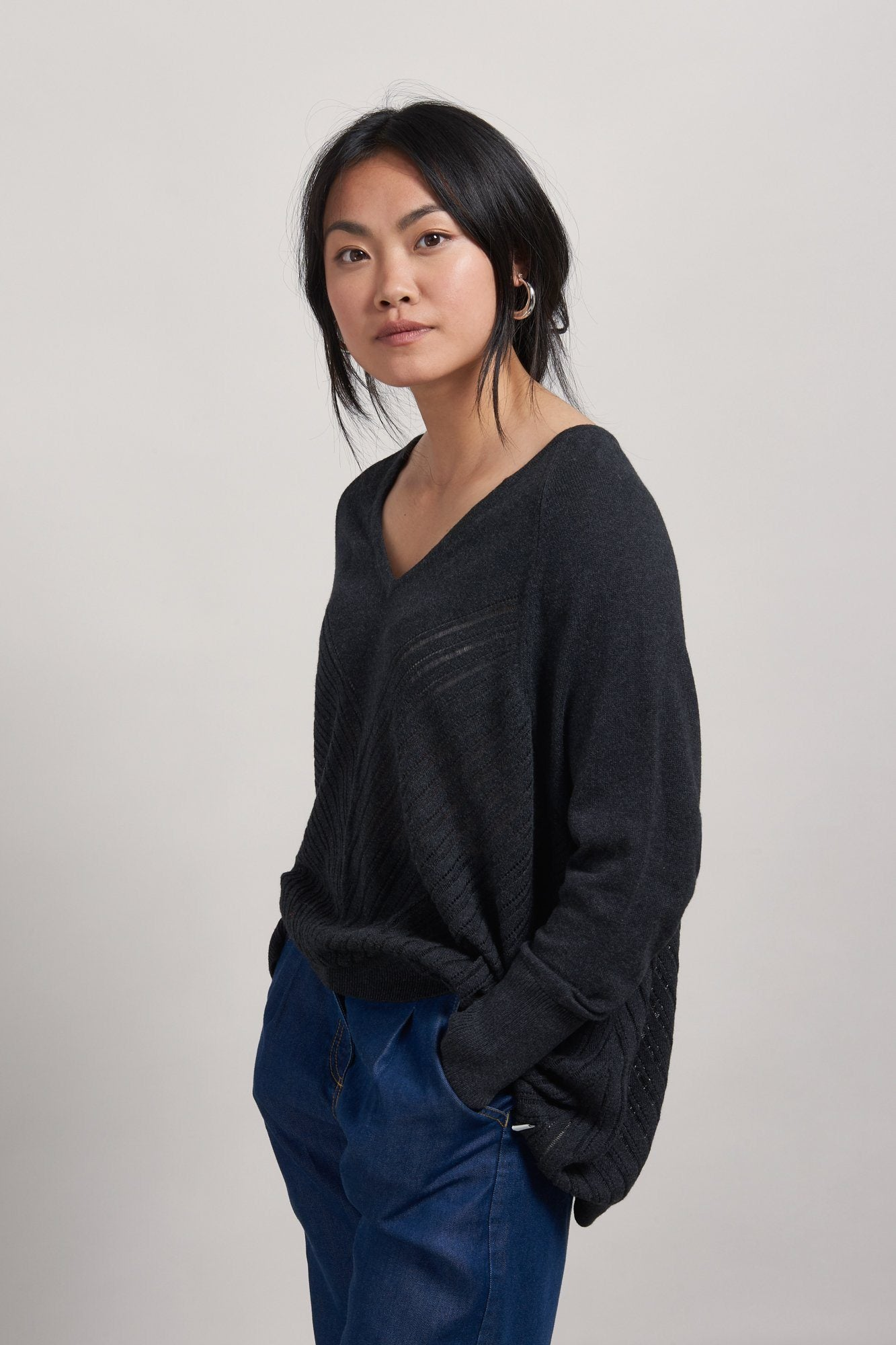 Jumper - MAHI Organic Cotton Jumper Coal