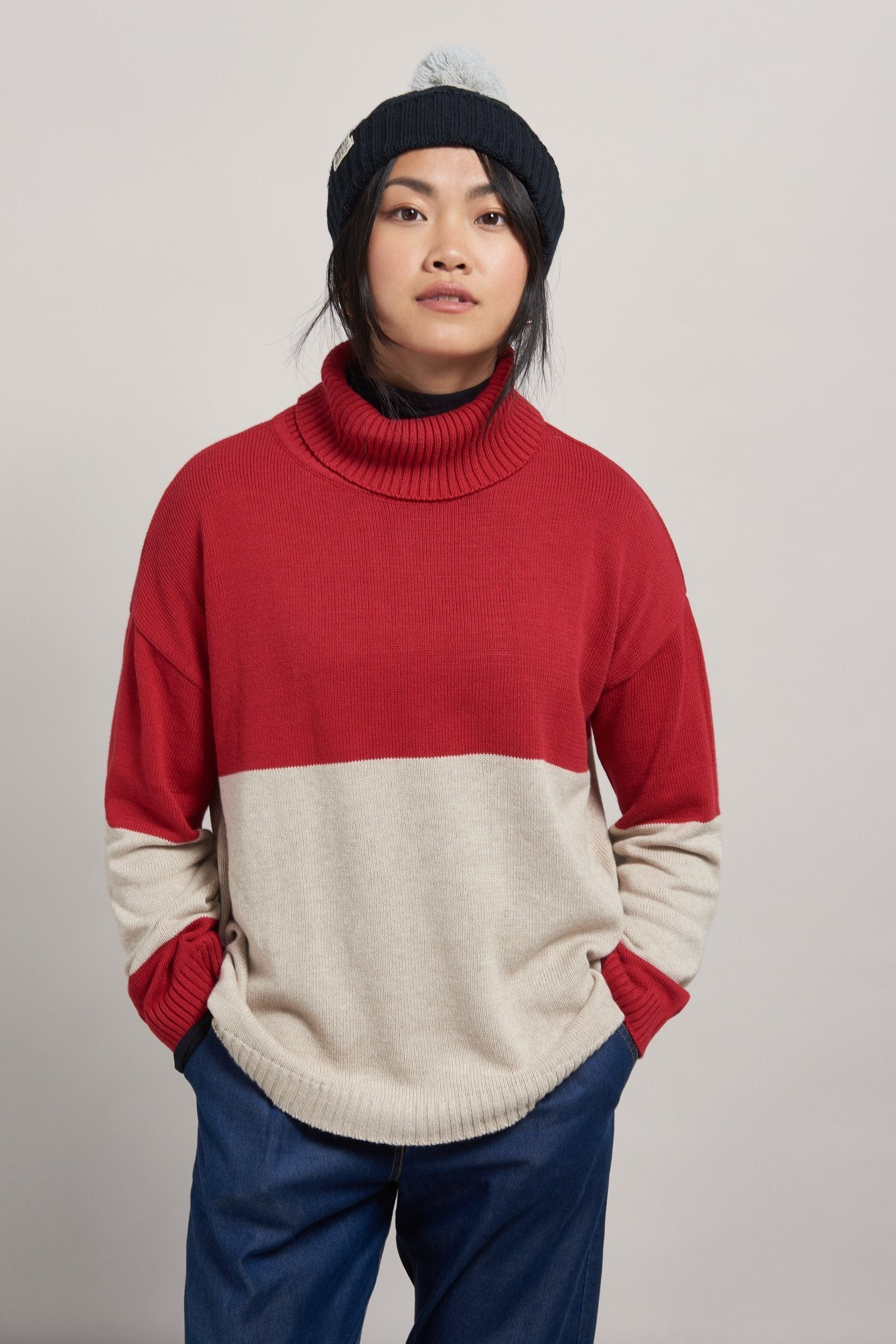 REMIA Organic Cotton Jumper Burnt Red - Komodo Fashion