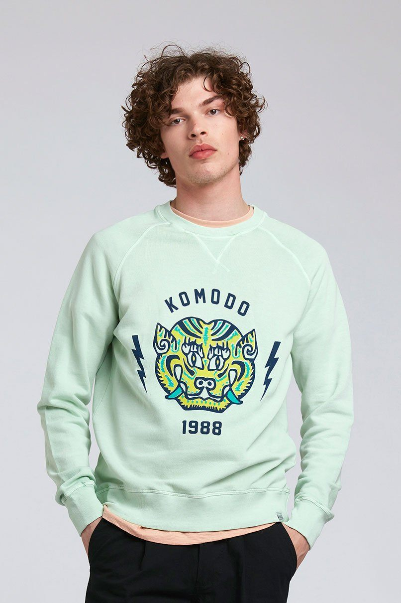 Jumper - TIGER - GOTS Organic Cotton Crew Neck Jade