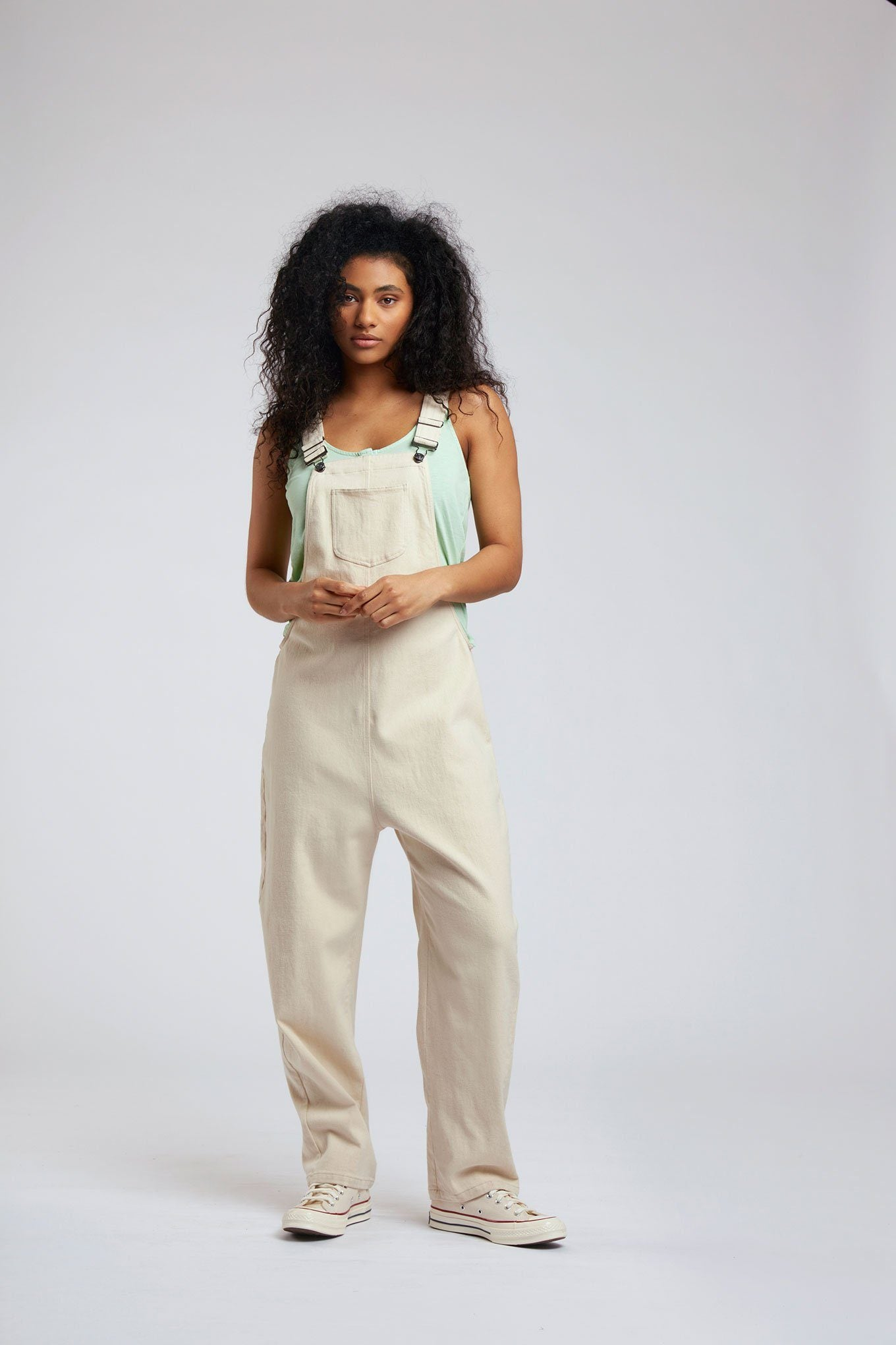 Jumpsuit - JOY - Organic Cotton Dungarees Sand