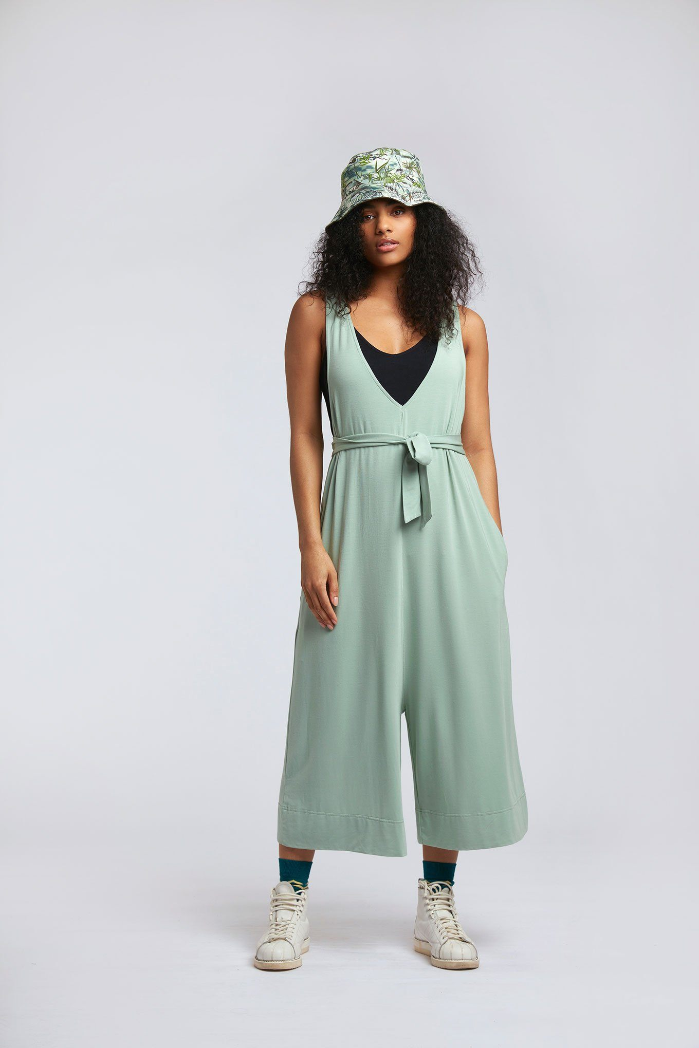 Jumpsuit - MOLLIE Modal Jumpsuit Seagrass