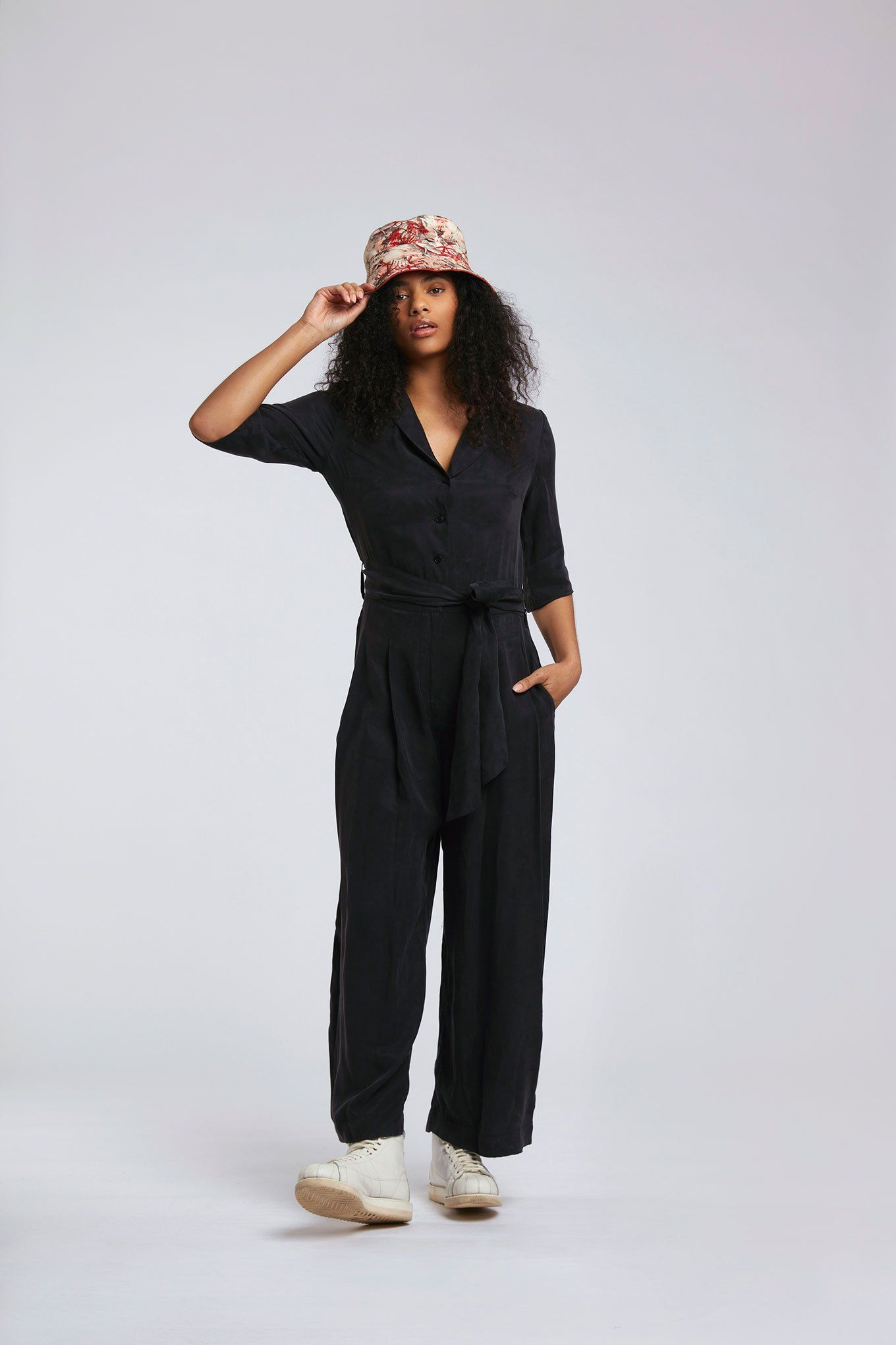 Jumpsuits - PLANET Cupro Jumpsuit Black Coffee